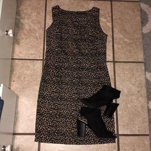 EUC vintage leopard dress 8